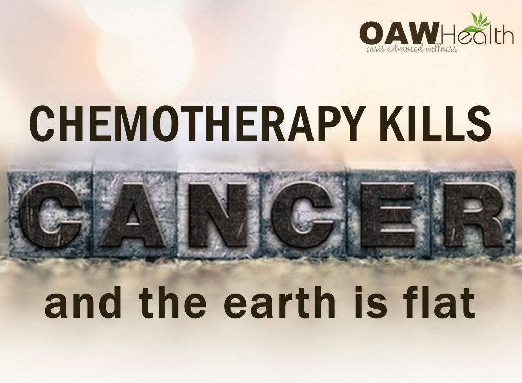 Chemotherapy Kills Cancer and the Earth Is Flat