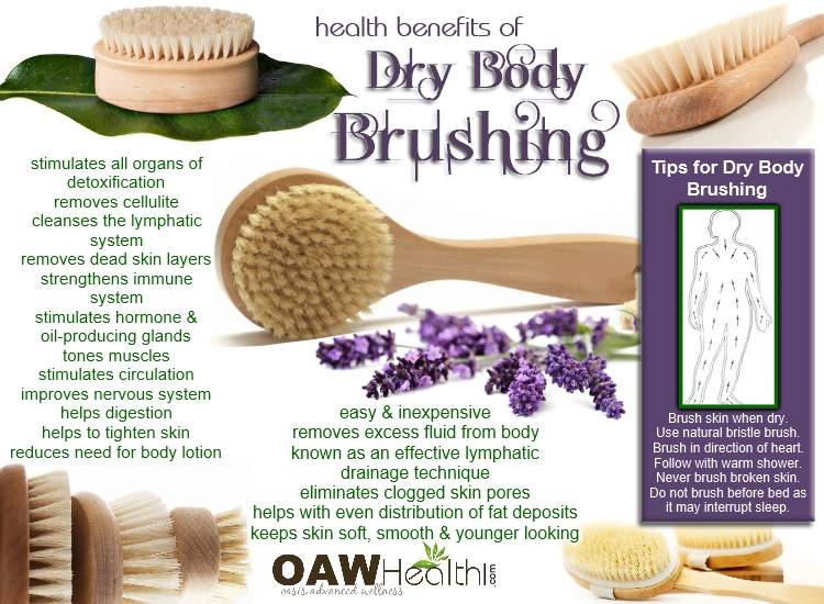 dry skin brushing health benefits