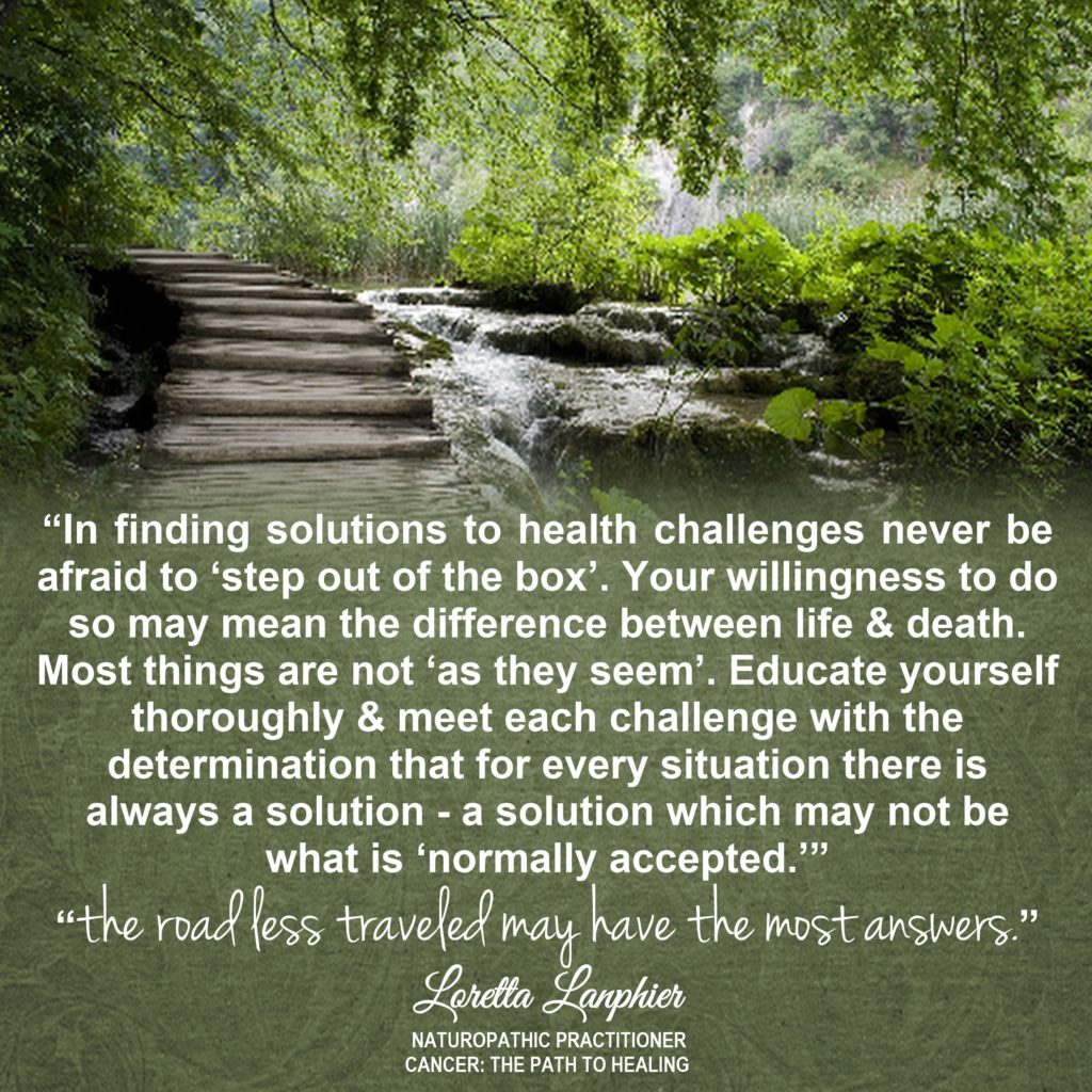quote - finding solutions - loretta lanphier