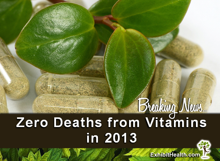 Zero Deaths from Vitamins in 2013