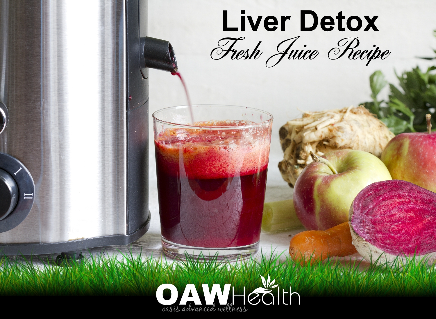 Liver Detox Juice Recipe – Carrot, Beet, Apple, Celery