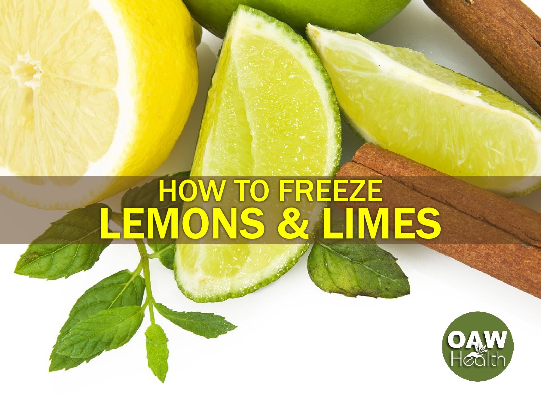 How to Freeze Lemons and Limes