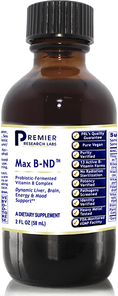 Max B-ND – Probiotic-Fermented Vitamin B Complex