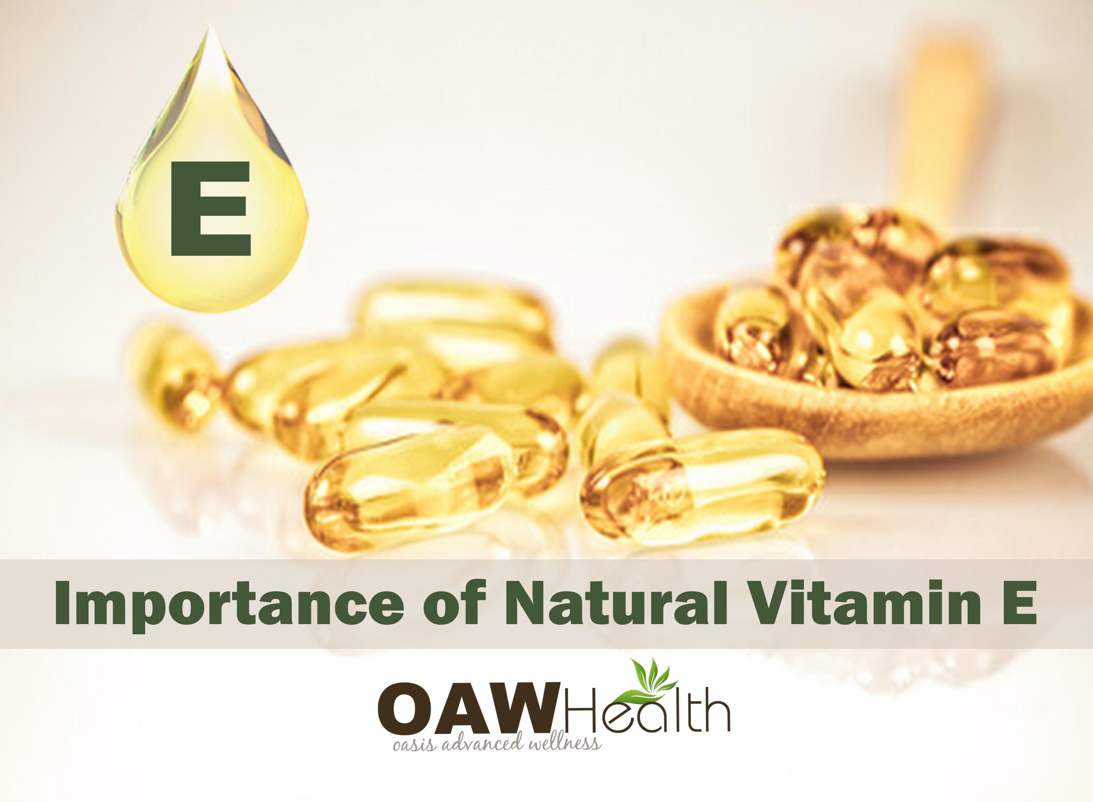 Importance of Natural Vitamin E