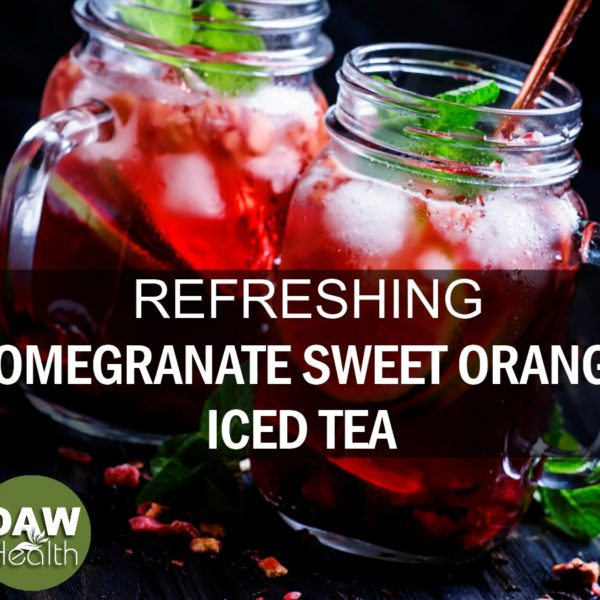 Refreshing Pomegranate Sweet Orange Iced Tea Recipe